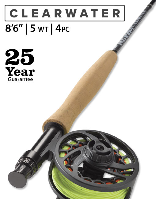 "Clearwater 8'6"" 5 weight Fly Rod Outfit"