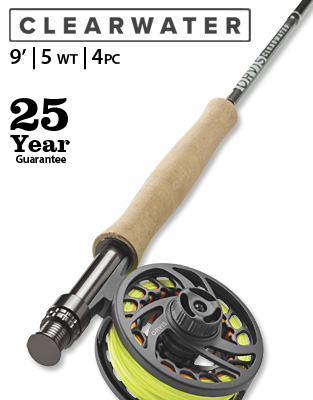Clearwater 9' 5 weight Fly Rod Outfit