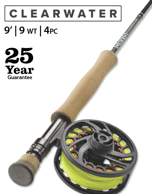 Clearwater 9' 9 weight Fly Rod Outfit