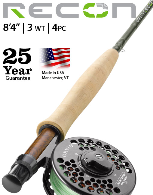 "Recon 3-weight 8'4"" Fly Rod"