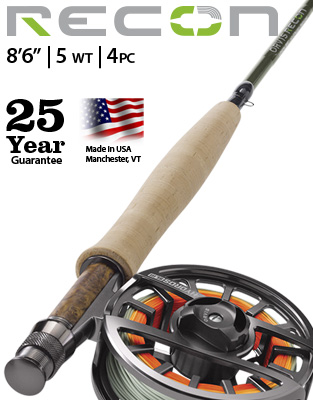 "Recon 8'6"" 5 weight Fly Rod Outfit"