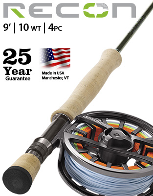Recon 9' 10 weight Fly Rod Outfit