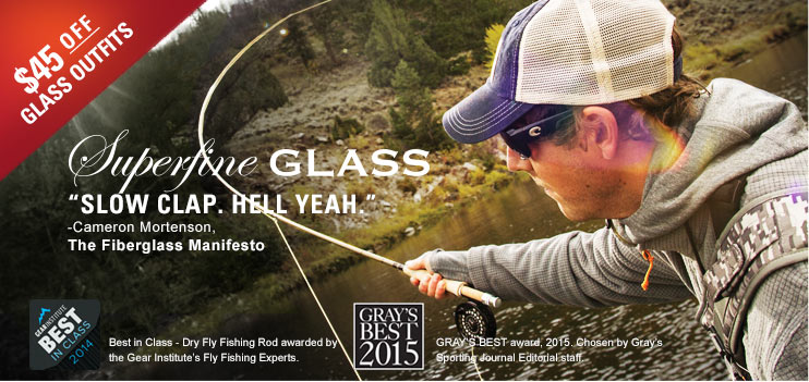SUPERFINE GLASS FLY ROD OUTFIT